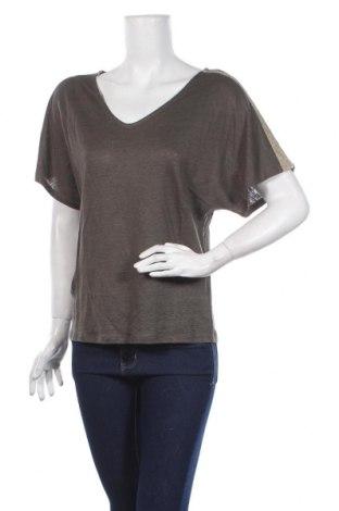 Дамска блуза Zapa, Размер S, Цвят Зелен, 100% лен, Цена 49,50лв.