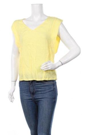 Дамска блуза Zapa, Размер S, Цвят Жълт, 100% лен, Цена 53,55лв.