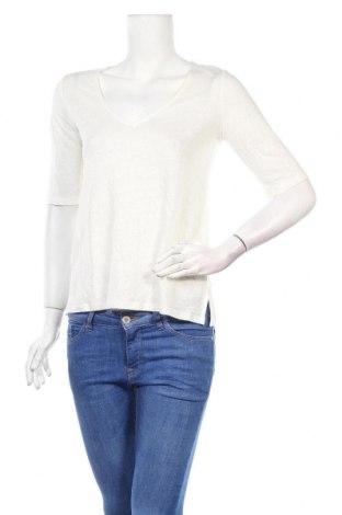 Дамска блуза Zapa, Размер S, Цвят Бял, Лен, Цена 49,05лв.