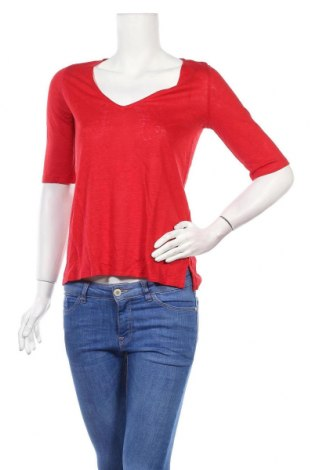 Дамска блуза Zapa, Размер S, Цвят Червен, Лен, Цена 49,05лв.