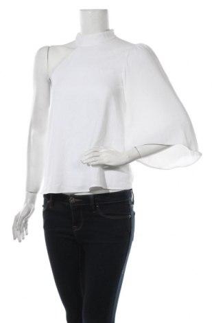 Дамска блуза Zara, Размер XS, Цвят Бял, Полиестер, Цена 22,40лв.