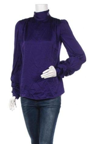 Дамска блуза Zara, Размер S, Цвят Лилав, 73% ацетат, 27% вискоза, Цена 22,40лв.