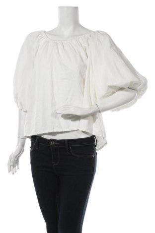 Γυναικεία μπλούζα Zara Trafaluc, Μέγεθος L, Χρώμα Λευκό, 45% βαμβάκι, 35% lyocell, 20% λινό, Τιμή 7,42€