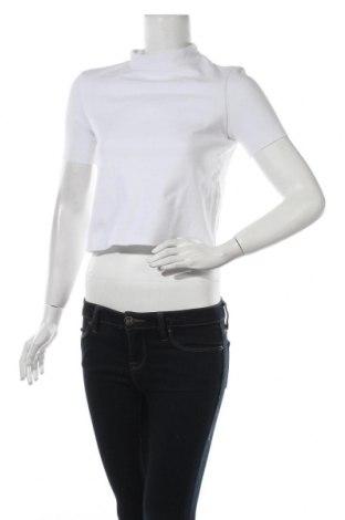 Дамска блуза Zara Trafaluc, Размер S, Цвят Бял, 51% памук, 49% полиестер, Цена 3,24лв.