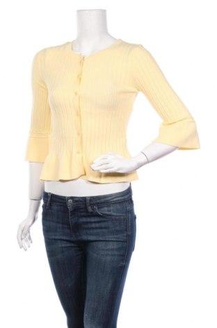 Дамска жилетка TWINSET, Размер S, Цвят Жълт, 70% вискоза, 30% полиестер, Цена 116,35лв.