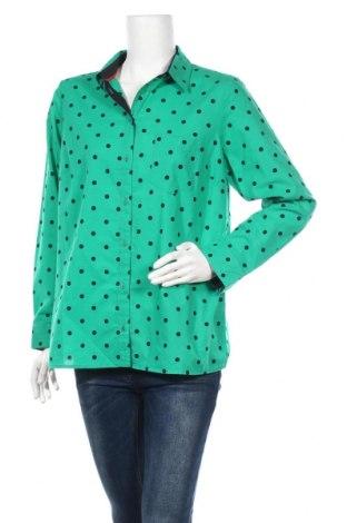 Дамска риза Balsamik, Размер XL, Цвят Зелен, Памук, Цена 36,40лв.
