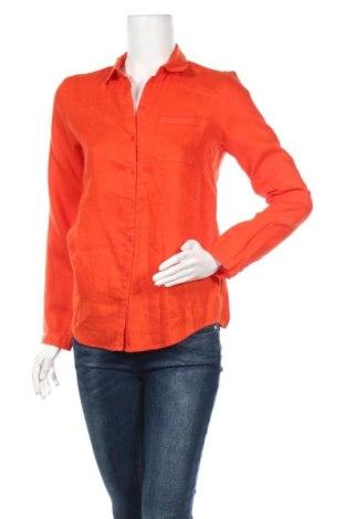 Дамска риза Burton of London, Размер M, Цвят Оранжев, Лен, Цена 51,62лв.