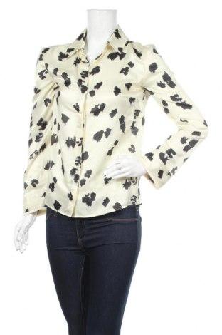 Дамска риза Cacharel, Размер S, Цвят Екрю, 60% памук, 40% коприна, Цена 113,40лв.