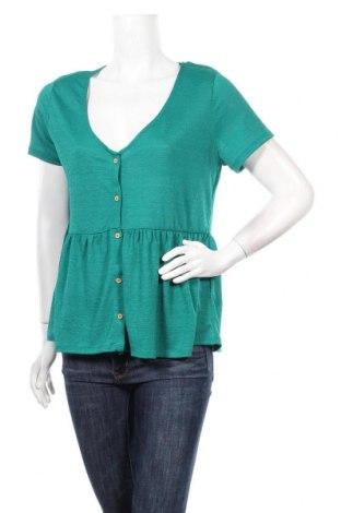 Дамска риза Camaieu, Размер L, Цвят Зелен, 98% полиестер, 2% еластан, Цена 28,60лв.