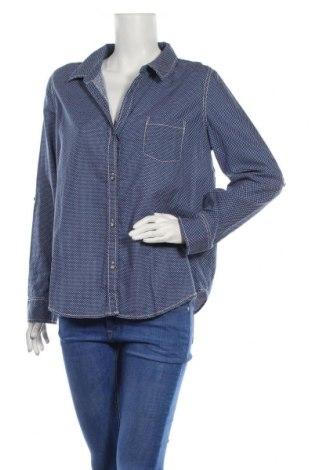Γυναικείο πουκάμισο DKNY Jeans, Μέγεθος L, Χρώμα Μπλέ, 52% λινό, 48% βαμβάκι, Τιμή 17,29€