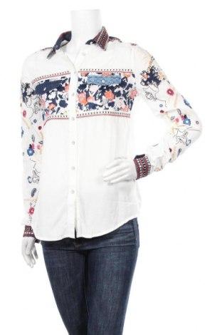 Дамска риза Desigual, Размер M, Цвят Многоцветен, 86% вискоза, 14% памук, Цена 81,75лв.