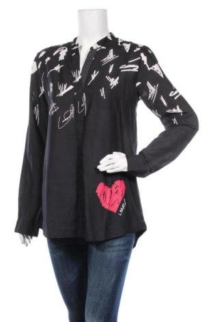 Дамска риза Desigual, Размер L, Цвят Черен, Вискоза, Цена 70,85лв.