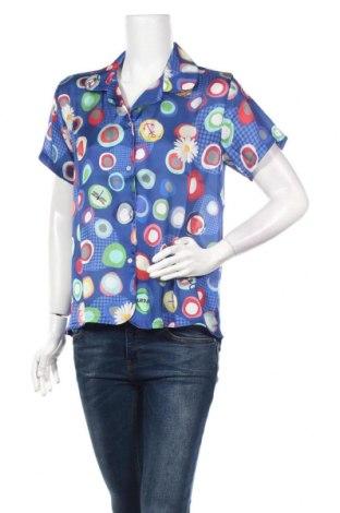 Дамска риза Desigual, Размер M, Цвят Син, Полиестер, Цена 40,02лв.