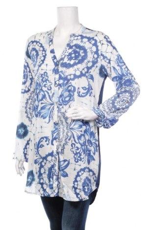 Дамска риза Desigual, Размер M, Цвят Син, Вискоза, Цена 70,85лв.