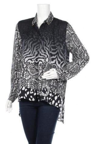 Дамска риза Desigual, Размер XL, Цвят Черен, Вискоза, Цена 70,85лв.