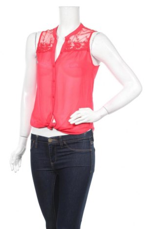 Дамска риза Jennyfer, Размер XS, Цвят Розов, Полиестер, Цена 25,52лв.