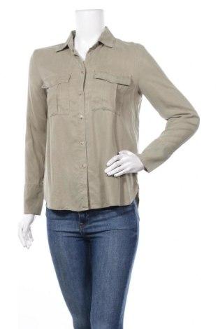 Дамска риза Massimo Dutti, Размер S, Цвят Зелен, Лиосел, Цена 3,10лв.