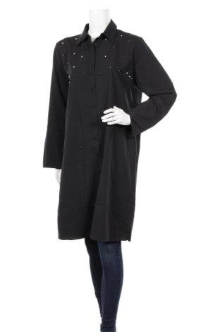 Дамска риза Milan Kiss, Размер XL, Цвят Черен, 95% полиестер, 5% еластан, Цена 32,20лв.