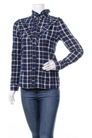 Дамска риза ONLY, Размер XS, Цвят Син, Памук, Цена 37,80лв.