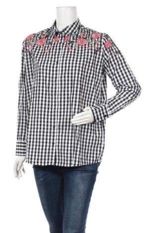 Γυναικείο πουκάμισο Pimkie, Μέγεθος S, Χρώμα Λευκό, 64% πολυεστέρας, 36% βαμβάκι, Τιμή 10,67€
