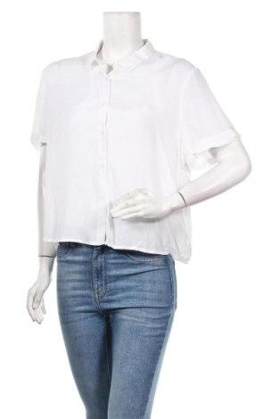 Дамска риза Pull&Bear, Размер XL, Цвят Бял, Вискоза, Цена 22,62лв.