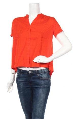 Дамска риза United Colors Of Benetton, Размер XS, Цвят Оранжев, Модал, Цена 34,22лв.