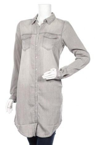 Дамска риза Vila, Размер M, Цвят Сив, 70% лиосел, 30% памук, Цена 39,20лв.