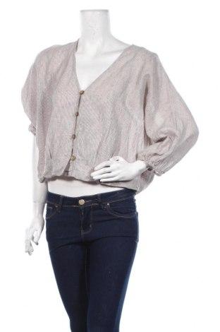 Дамска риза Zara, Размер M, Цвят Бежов, Цена 40,50лв.