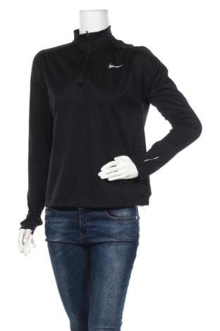 Дамска спортна блуза Nike Running, Размер M, Цвят Черен, Полиестер, Цена 61,50лв.