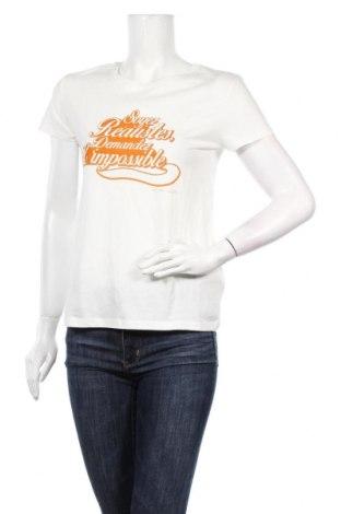 Дамска тениска Camaieu, Размер S, Цвят Бял, Памук, Цена 18,56лв.