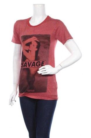Дамска тениска Eleven Paris, Размер XS, Цвят Червен, 51% полиестер, 49% памук, Цена 25,20лв.