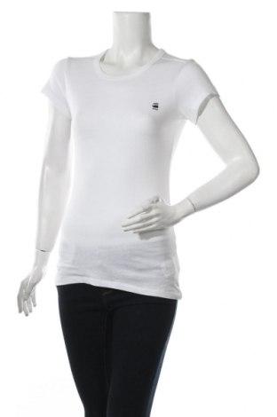 Дамска тениска G-Star Raw, Размер XS, Цвят Бял, 50% памук, 50% полиестер, Цена 66,75лв.