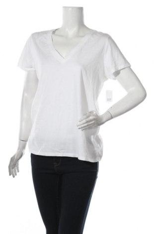 Дамска тениска Gap, Размер L, Цвят Бял, Памук, Цена 36,00лв.