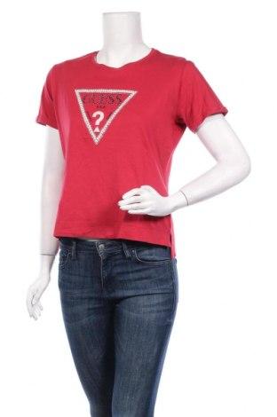 Дамска тениска Guess, Размер S, Цвят Червен, Памук, Цена 41,58лв.