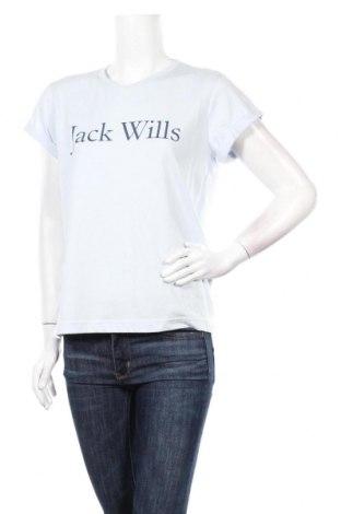 Дамска тениска Jack Wills, Размер M, Цвят Син, 50% памук, 50% полиестер, Цена 20,67лв.