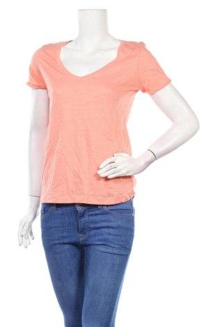 Дамска тениска Jennyfer, Размер M, Цвят Оранжев, Памук, Цена 15,08лв.