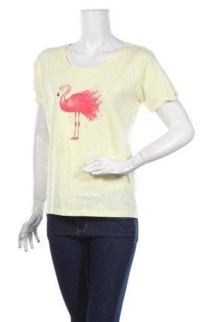 Дамска тениска MyMO, Размер S, Цвят Жълт, Памук, Цена 29,00лв.