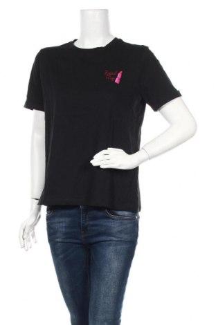 Дамска тениска Pieces, Размер M, Цвят Черен, Памук, Цена 36,00лв.
