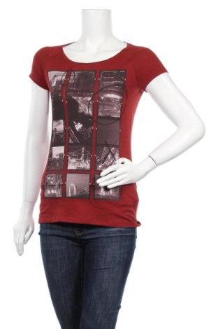 Γυναικείο t-shirt Sisley, Μέγεθος XS, Χρώμα Κόκκινο, Βαμβάκι, Τιμή 8,62€