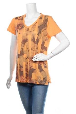 Дамска тениска Sun Valley, Размер XL, Цвят Оранжев, 65% полиестер, 35% модал, Цена 30,42лв.