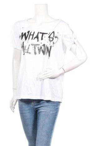 Дамска тениска TWINSET, Размер S, Цвят Бял, 100% памук, Цена 51,62лв.