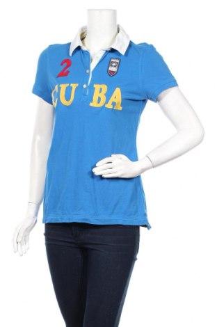 Дамска тениска Tom Tailor, Размер L, Цвят Син, Памук, Цена 24,36лв.