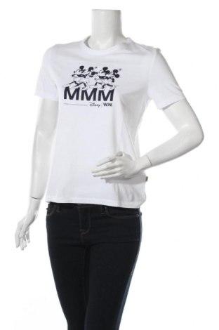 Дамска тениска Wood Wood, Размер S, Цвят Бял, Памук, Цена 57,42лв.