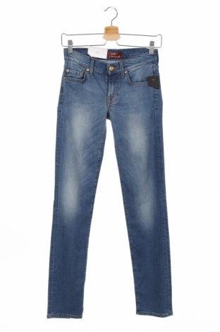 Дамски дънки 7 For All Mankind, Размер XS, Цвят Син, 43% лиосел, 22% памук, 20% вискоза, 13% купро, 2% еластан, Цена 76,97лв.