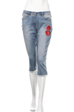 Дамски дънки Aniston, Размер M, Цвят Син, 98% памук, 2% еластан, Цена 33,80лв.