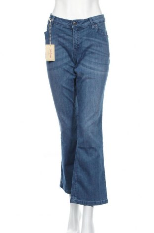 Дамски дънки John Baner, Размер XL, Цвят Син, 82% памук, 17% полиестер, 1% еластан, Цена 21,84лв.