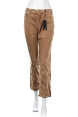 Дамски дънки Laura Scott, Размер M, Цвят Бежов, 98% памук, 2% еластан, Цена 24,78лв.