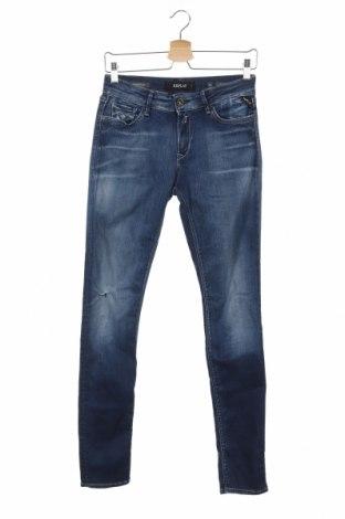 Дамски дънки Replay, Размер S, Цвят Син, 88% памук, 8% полиестер, 4% еластан, Цена 164,25лв.