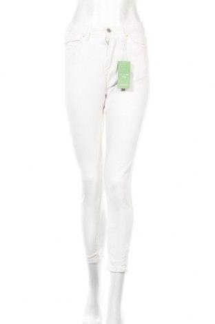 Дамски дънки Sinsay, Размер XS, Цвят Бял, Памук, Цена 15,50лв.