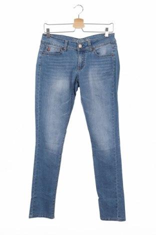 Дамски дънки U.S. Polo Assn., Размер M, Цвят Син, 81% памук, 18% полиестер, 1% еластан, Цена 20,79лв.